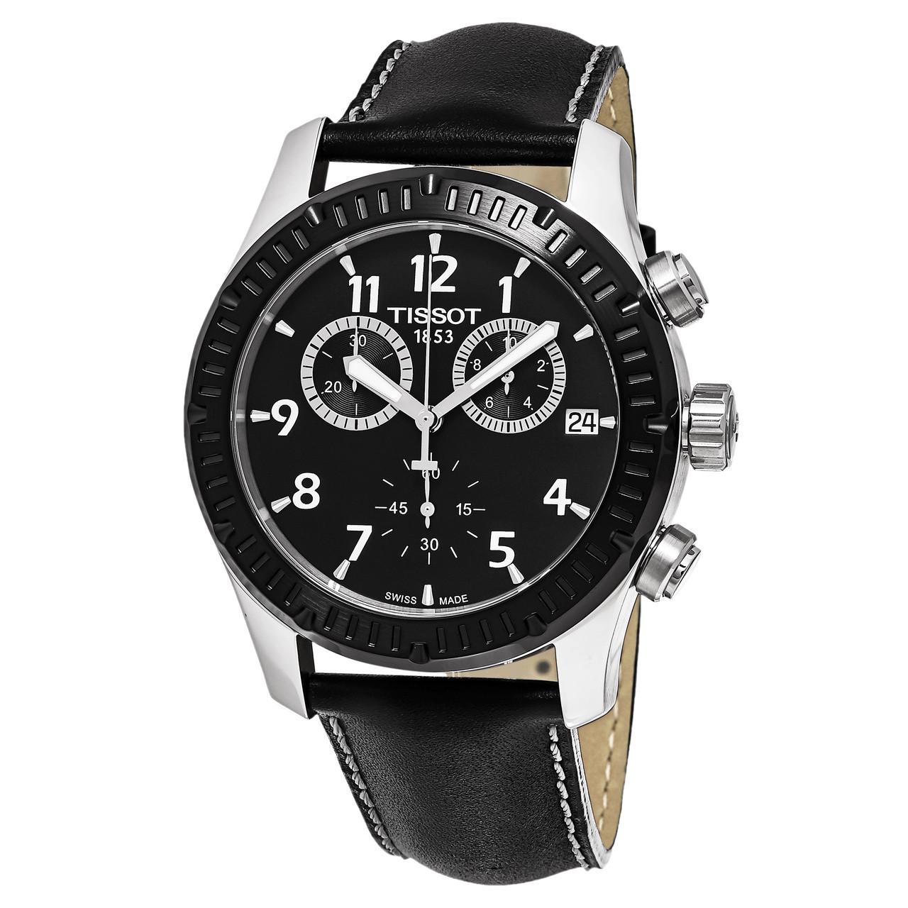 c1967e70a56 Tissot Men's T039.417.26.057.00 V8 Black Dial Chronograph Swiss ...