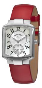 Philip Stein Women's 'Signature Classic Tank' Red Strap Watch