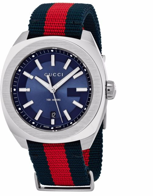 55e3cdabe19 ... Gucci GG2570 NATO Nylon Strap Blue Dial Men s Watch YA142304. Image 1.  Loading zoom