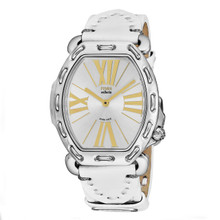 Fendi Women's F84236H.PS18R04 'Selleria' Silver Dial White Leather Strap Swiss Quartz Watch