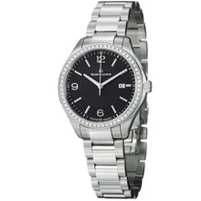 Maurice Lacriox Women's 'Miros' Black Diamond Dial Steel Watch MI1014-SD502330