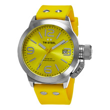 TW Steel Canteen Yellow Dial Yellow Silicone Men's Watch TW520