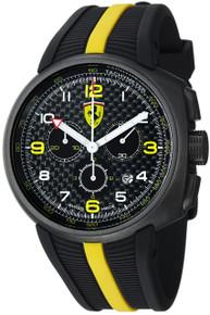 Ferrari Mens Fast Lap Black Chronograph Dial Swiss Made Watch FE10-IPGUN-CG-FC