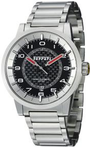 Ferrari Men Granturismo Stainless Steel Bracelet Swiss Made Watch FE12-ACC-CM-BK