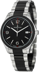 Maurice Lacroix Men's 'Miros' Black Dial Two Tone Steel Watch MI1018-SS002331