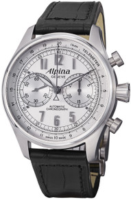 Alpina Mens Aviation Silver Dial Chronograph Automatic Watch AL-860SCP4S6