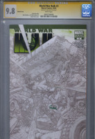 CGC SS 9.8 World War Hulk #3 Sketch Variant Cover