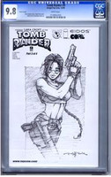 Tomb Raider #9 Sketch Cover CGC 9.8