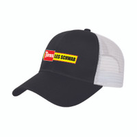 Polyester Mesh Back Cap (Black/White)  *** SHIPS WITHIN 24 HOURS ***