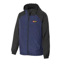 Sport-Tek Heather Colorblock Raglan Hooded Jacket