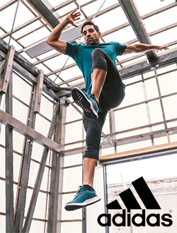 Man working out wearing Adidas