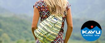 Woman walking wearing Kavu