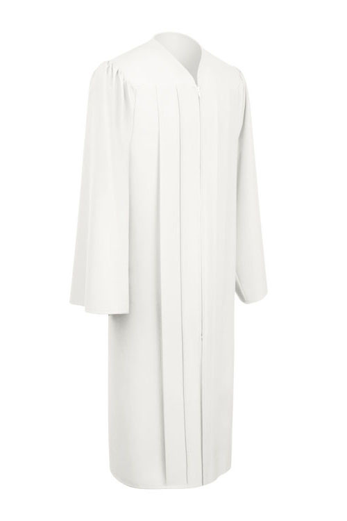 5eb4280beb2 White Freedom Gown - University Cap & Gown