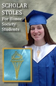 Lt Blue Scholar Stole - Honor Society Students