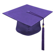 Purple Kinder Cap & Tassel