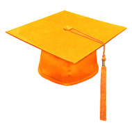 Orange Kinder Cap & Tassel