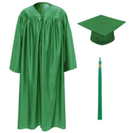 Green Kinder Cap, Gown & Tassel