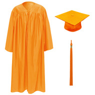 Orange Kinder Cap, Gown & Tassel