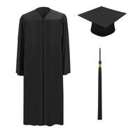 Black M2000 Cap, Gown & Tassel