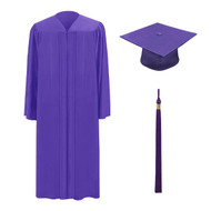 Purple M2000 Cap, Gown & Tassel