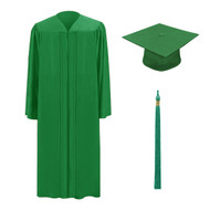 Green M2000 Cap, Gown & Tassel