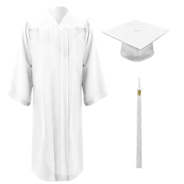 6bf5e9176d0 White Freedom Cap, Gown & Tassel - University Cap & Gown
