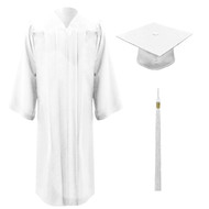 White Freedom Cap, Gown & Tassel