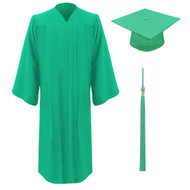 Emerald Freedom Cap, Gown & Tassel