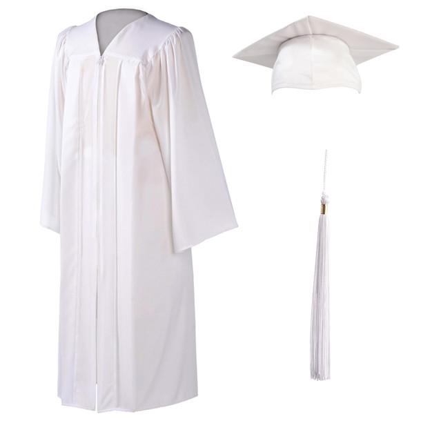3318fb6395e U-White Cap, Gown & Tassel - University Cap & Gown