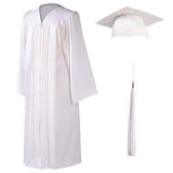 U-White Cap, Gown & Tassel