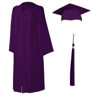 U-Dark Purple Cap, Gown & Tassel