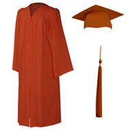U-Burnt Orange Cap, Gown & Tassel