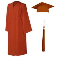 U-Burnt Orange Cap, Gown & Tassel