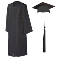 U-Charcoal Cap, Gown & Tassel