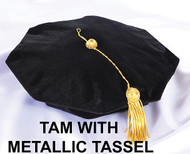 Deluxe Tam with Metallic Tassel