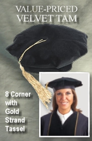 UMASS AMHERST ECONO TAM with GOLD SILK TASSEL