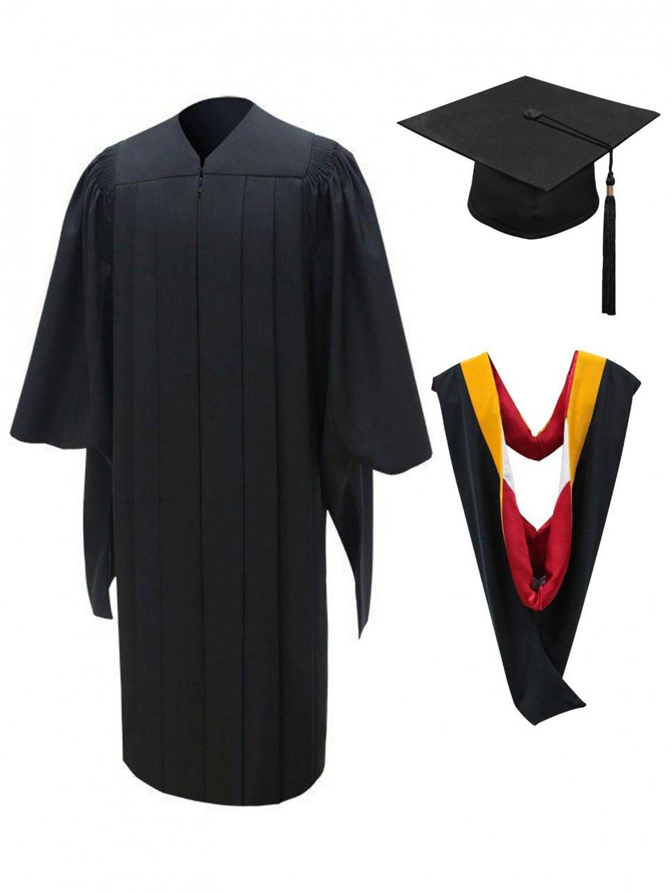 0d6d12a44bb MASTER Deluxe Cap, Gown, Tassel & Hood - University Cap & Gown