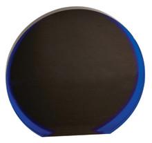 "6 1/4"" Black/Blue Luminary Circle Acrylic"