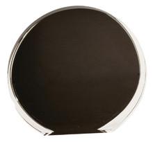"5 1/2"" Black/Clear Luminary Circle Acrylic"