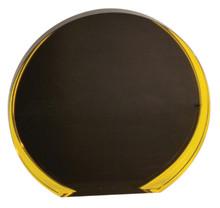 "5 1/2"" Black/Gold Luminary Circle Acrylic"