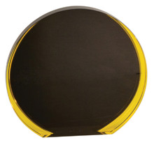 "6 1/4"" Black/Gold Luminary Circle Acrylic"