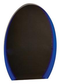 """8"""" Black/Blue Luminary Oval Acrylic"""