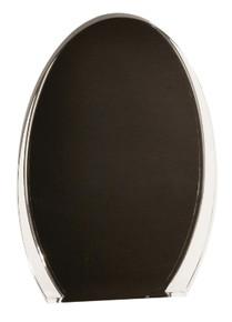 "7"" Black/Clear Luminary Oval Acrylic"