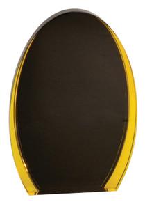 """8"""" Black/Gold Luminary Oval Acrylic"""