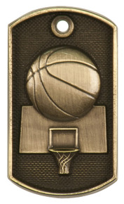 "2"" 3D Basketball Dog Tag"