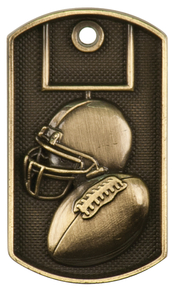 "2"" 3D Football Dog Tag"