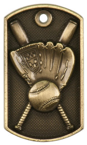 "2"" 3D Baseball Dog Tag"