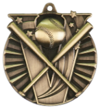 "2"" Gold Baseball Victory Medal"