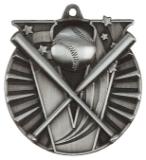 "2"" Silver Baseball Victory Medal"