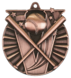 "2"" Bronze Baseball Victory Medal"